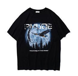 RHUDE T shirt Hommes Haute Qualité Top Tee Impression numérique par injection directe Casual Japon Skateboard T-shirts manches courtes RHUDE ? partir de fabricateur