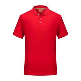 2019 camisa de seda roja para hombre 2019 de moda de verano de manga corta de seda de hielo de América del Sur camiseta roja para hombre y mujeres POLO uniformes SD-2chongfu-89 camisa de seda roja para hombre baratos
