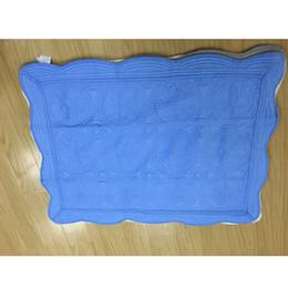 Courtepointe en Ligne-Couvertures bébé coton broderie Couverture Ruffle Quilt bébé bébé emmaillotage été Accueil fournit ZZA1368-4