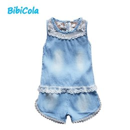 4374fba56e92 good qulaity summer baby girl clothing sets toddler flower lace 2pcs  tracksuit top vest+short outfits baby style infant clothing