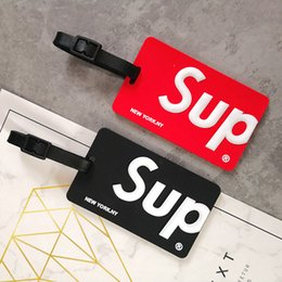 sup boards Coupons - Wholesale Fashion Sup Luggage Box Tag Boarding Pass Checked Red Color in Stock DHL Free Shipping