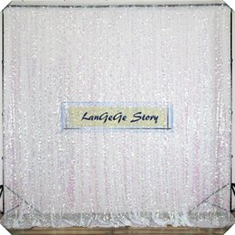 White sequin wedding drapes free shipping 10ft*10ft Nice shining sequin curtain photograph Birthday Christams festive party decorations