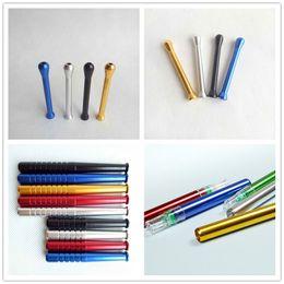 68mm / 55mm / 78mm / 82mm Metallo Snuff Straw Sniffer Snorter Tubo Nasale Snuffer Nasale Per Fumare Pipa Usa Strumenti Accessori 5 colori 4 Stili da