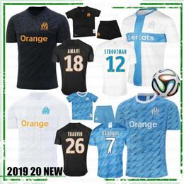 ko Rabatt Olympique De Marseille Top-Qualitätsfußball Jersey OM Jerseys 2019 20 maillot de foot PAYET THAUVIN Fußballhemd 120. Jahrestag neu
