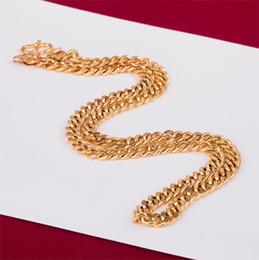 amerikanische goldkette 24k Rabatt 2019 neue vergoldete 24K Goldhalskettenpaar-Kettenhalskettenschmucksachen der europäischen und amerikanischen Art und Weisemänner geben Verschiffen frei