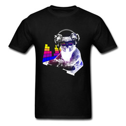 dj controllers Coupons - DJ Rock Koala T-Shirt Music Controller Unit Fashion Cool Men Tshirts Funny Animal Cotton Hip Hop Bass Band Jazz Tshirts Men