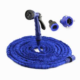 ugelli all'ingrosso spray spray Sconti Commercio all'ingrosso 25FT-100FT Materiali in plastica A + Qualità Spruzzatori ugello spruzzatore acqua blu Tubo flessibile per acqua espandibile Tubo flessibile da giardino