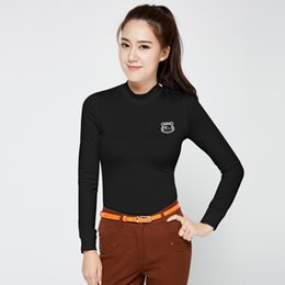 27588cd177f Women Golf Clothing Ladies Long Sleeve Training T Shirts Winter Slim Sport Underwear  Clothes Outdoor Golf Clothes D0700