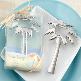 beach wedding favor bottle opener Coupons - Wedding Gift Opener New Arrivals Stainless Steel Coconut Palm Tree Beer Wine Bottle Opener Wedding Favor Beach Bridal Guest Gift wn685