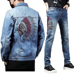 Wigeo Black Ripped Jeans with Embroidery Men with Flowers Rose Embroidered Mens Denim Jeans Stretch Skinny Jeans Pants