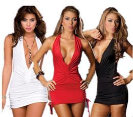 Lencería sexy mujeres de bajo pecho V cuello bata vestido Babydoll camisón camisón ropa de dormir blanco rojo negro tamaño libre desde fabricantes