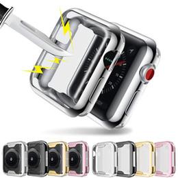 Caso claro de apple watch online-Abdo Protector de pantalla para Apple Watch 3/2/1 38MM 42MM Soft TPU All-Around HD Clear Clear Cover para iWatch 4 44MM 40MM