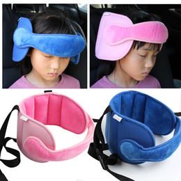 Segurança do apoio da cabeça do assento de carro on-line-Crianças Cabeça Cinto de Fixação crianças Segurança Assento de Carro Sono Positioner Stroller Acessórios Crianças Cabeça de Dormir Apoio atacado