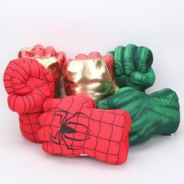 Meninos brinquedos de super-heróis on-line-27 centímetros Marvel Avengers Endgame Incredible Superhero Figura Aranha homem de cascos brinquedos Homem de Ferro presente luvas de boxe menino Luvas Hulk
