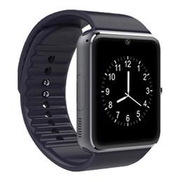 Neue android smart watch handy online-Neue intelligente Uhr GT08 für Andriod Handy Bluetooth Uhr mit SIM-Karte Uhr für tragbares Gerät-Telefon IOS geben Verschiffen frei DHL