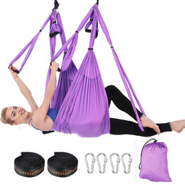 Set completo 6 maniglie anti-gravità aerea yoga amaca battente altalena trapezio yoga esercizi di inversione dispositivo casa palestra cintura appesa da