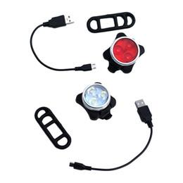 mountainbike-kopf-rückleuchten Rabatt Fahrrad Vorne Rücklicht Set USB Wiederaufladbare Fahrrad Kopf Schwanz Warnung Beleuchtung Werkzeug Mountainbike Zubehör Für Radfahren