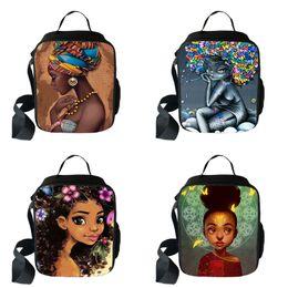 sacs à lunch design Promotion Déjeuner une épaule V-coool 76 Design Bande dessinée Africa Multi-function Lady Sacs à dos grande épaule de haute capacité Enfants Lunch Square Bags 07