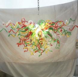американские лампы Скидка Новый Американский Chihuly Стиль Люстры Лампы Украшения Дома Энергосберегающий Источник Света Ручной Выдувной Многоцветный Стеклянный Кулон