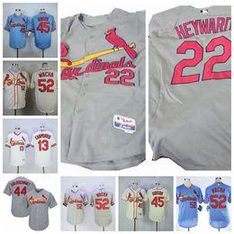 2019 keith hernandez jersey Herren St. Louis Wacha Jersey Matt Carpenter Willie McGee Keith Hernandez Jason Heyward Weiß Grau Blau-Baseball-Shirts rabatt keith hernandez jersey