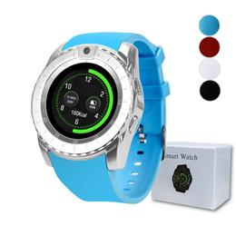 Tarjeta de actualización online-V88 Smart Watch Bluetooth 1.3 pulgadas Fitness Tracker Soporte de cámara Tarjeta SIM Mensaje Llamadas Recordatorio Smartwatch V8 Reloj inteligente actualizado