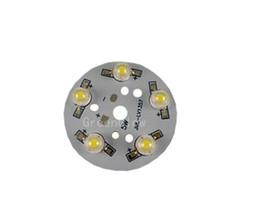 Runde pcb geführt online-10X super helle LED-Modul-Aluminium-PCB mit runder Leiterplatte mit 5W Aluminium-Sockel und LED-LEDs versandkostenfrei