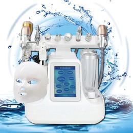Cáscara de chorro de agua facial online-De calidad superior 11 en 1 Hydra Dermabrasion RF Bio-lifting Spa Máquina facial Agua Oxígeno Jet Hydro Diamond Peeling Microdermabrasion