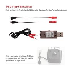 Контроллер полетов rc онлайн-USB Flight Simulator Computer Simulation Flight for JR Walkera Devo 7 FS-i6X Remote Controller RC Helicopter Airplane Drone