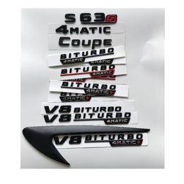 2x Black 6.3AMG Metal Sticker Emblem Badge cls63 Sport Coupe c63 gle63 3D gle63