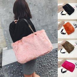 Nice Winter Faux Fur Handbags Women Shoulder Bags Solid Casual Tote Bag  Fashion Leopard Handbag Chain Bag Bolsa Feminina 1bcd1ae7d4f0a