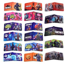 Jeux pour enfants en Ligne-59 styles Enfants Fortnite 3D PU portefeuille sacs 2018 Nouveaux Enfants Bande Dessinée jeu porte-monnaie sac bourse Bande Dessinée Figure Jouets Action Toys