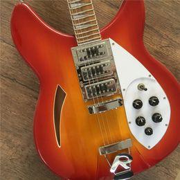 2019 12 string solid body e-gitarre Freies Verschiffen Musikinstrument professionelle E-Gitarren Gitarre 12 String Cherryburst Solid Body Jazz Gitarre günstig 12 string solid body e-gitarre
