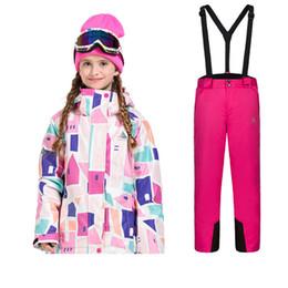 2019 jaqueta de esporte para meninas Crianças Roupas de Esqui Dos Desenhos Animados Meninos e Meninas Roupas de Esqui Esportes À Prova de Frio À Prova D 'Água Manter quente Ao Ar Livre jaqueta Pan Shao Xing jaqueta de esporte para meninas barato