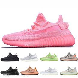 Alta calidad Kanye West Clay V2 estático reflectante GID Glow In The Dark Zapatillas para correr para hombre ZEBRA Rojo resplandor Mujer Sport Designer Sneakers desde fabricantes