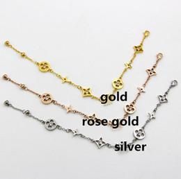 2019 pulseras de cadena para niños Encantador diseño de letras, brazaletes de acero inoxidable con 3 colores, oro rosa / oro / plata, elija brazalete para hombres, mujeres