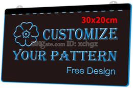 [F000] 30x20cm Personalizar o seu logotipo, sinais ou placa padrão NOVO 3D Gravação LED Light Sign Customize on Demand 8 cores de