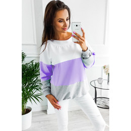 2019 dünne hoodie-frauen Frauen Dünne Hoodies 2019 Neue Ankunft Frauen Kontrast Farbe Sexy Hoodie Designer Hoodies Pullover für Frauen 8 Styles günstig dünne hoodie-frauen