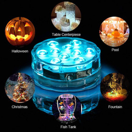 Control remoto LED Luz de buceo RGB Operación de la batería Luz subacuática Florero al aire libre Tazón Jardín Fiesta Decoración Luz nocturna desde fabricantes