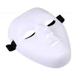 Máscara em branco cara cheia on-line-Espesso Em Branco Masculino A Máscara Fantasma Full Face Decoração Ofício Halloween