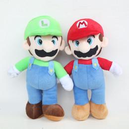 """2019 Super Mario Bros Peluche Mario e Luigi Animali farciti Plus Giocattoli per regali 9 """"23 cm da"""