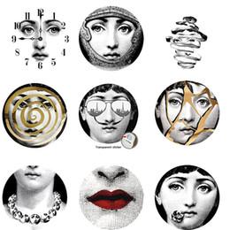 28 Styles Milano Italia Designer fornasetti piatti modello carta da parati separati dipinti adesivi murali Decorazione murale fai da te da
