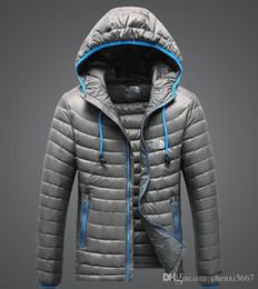 Casaco de campo on-line-Marca de Qualidade Superior de inverno homens Para Baixo Hoodies NORTH Casacos de Acampamento À Prova de Vento de Esqui Casaco Quente Para Baixo Casuais Com Capuz Sportswear FACE jaqueta