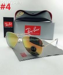 ffc28f5f00 Gafas de sol Ray-Ban de calidad superior Piloto Hombres Mujeres UV400 Banda  polarizada BEN Gafas Lentes de espejo Gafas de sol con estuches y caja