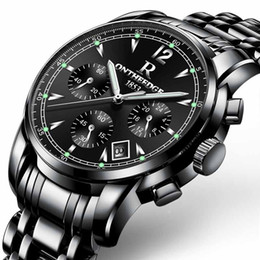 Bandas de relógio de tungstênio on-line-Homens de negócios de luxo Relógios Luminosos Moda Esporte Casual Tungsten Steel Band Assista Quartz Relógio de Pulso Reloj Hombre