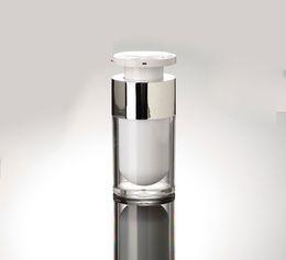 Горячая 30 мл с блокировочной головкой акриловый безвоздушный вакуумный насос бутылка с лосьоном для сыворотки, лосьон, эмульсия, пластиковая основа Косметический контейнер от
