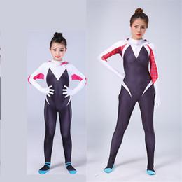 Donne di ragno cosplay online-Spider-Man Homecoming Gwen Stacy Cosplay Costume 3D stampato femminile Spiderman Tuta Costumi Spider per le donne Ragazze