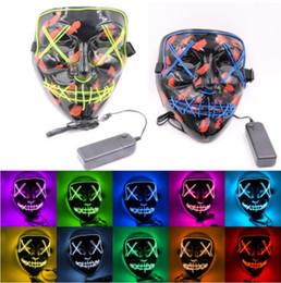 grossista fibra óptica borboleta Desconto Máscara de Halloween LED Light Up Máscaras Engraçadas O Ano da Eleição da Purga Grande Festival Suprimentos Traje Cosplay Máscara de Festa