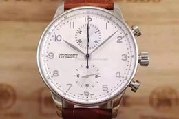 Reloj portugal online-Nuevo reloj de lujo para hombre IW 371446 Portugal 7 series piloto Mecánico automático militar Relojes de pulsera deportivos multifuncionales de calidad