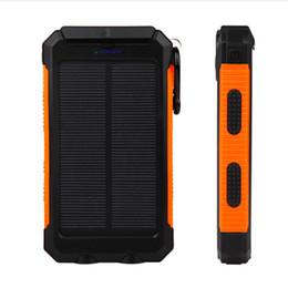2019 lanterna bateria externa GANSS 10000 mAh Banco De Energia Solar À Prova D 'Água Portátil Bateria Externa Carregador PowerBank Solar com 2 LED Lanterna Dual USB para Telefone Inteligente lanterna bateria externa barato
