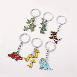 portachiavi coreani carini Sconti Coreano verde Cartoon Dinosaur chiave portachiavi ad anello per il supporto delle donne della ragazza regalo Animal Car Key svegli fai da te ciondolo borsa